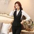 Nueva Llegada Estilos Uniformes Formales Chaleco Chaquetas de la Capa Femenina 2016 Otoño Primavera Profesional Business Women Outwear Chaleco Tops