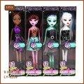 4 pçs/set monstro boneca brinquedos para meninas / alta qualidade de brinquedo de presente para crianças alta clássico brinquedos presentes de natal