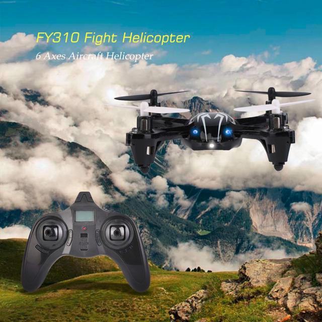 FY310 Luchar Fácil Operación Estable Helicóptero Avión 100 M Distancia de Control de 6 Ejes Aviones Helicóptero Negro