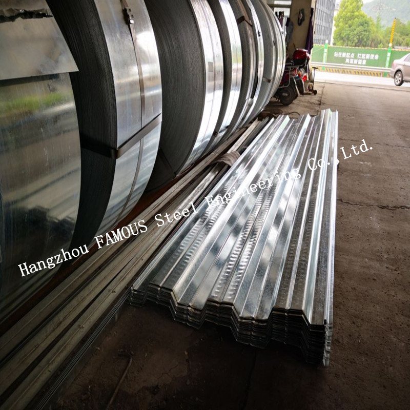 1.2mm Gauge Galvanized Steel Decking Formwork To Bottom Of Concrete Slab (Bond-dek Floor Or Comflor 80, 60, 210 Equivalent)