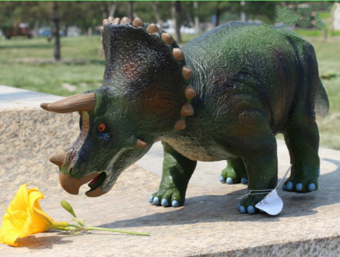 Large Size Classic Dinosaur Toy Triceratops Soft Animal Model Collection for Boys Action & Toys Figures for Kids lps pet shop toys rare black little cat blue eyes animal models patrulla canina action figures kids toys gift cat free shipping