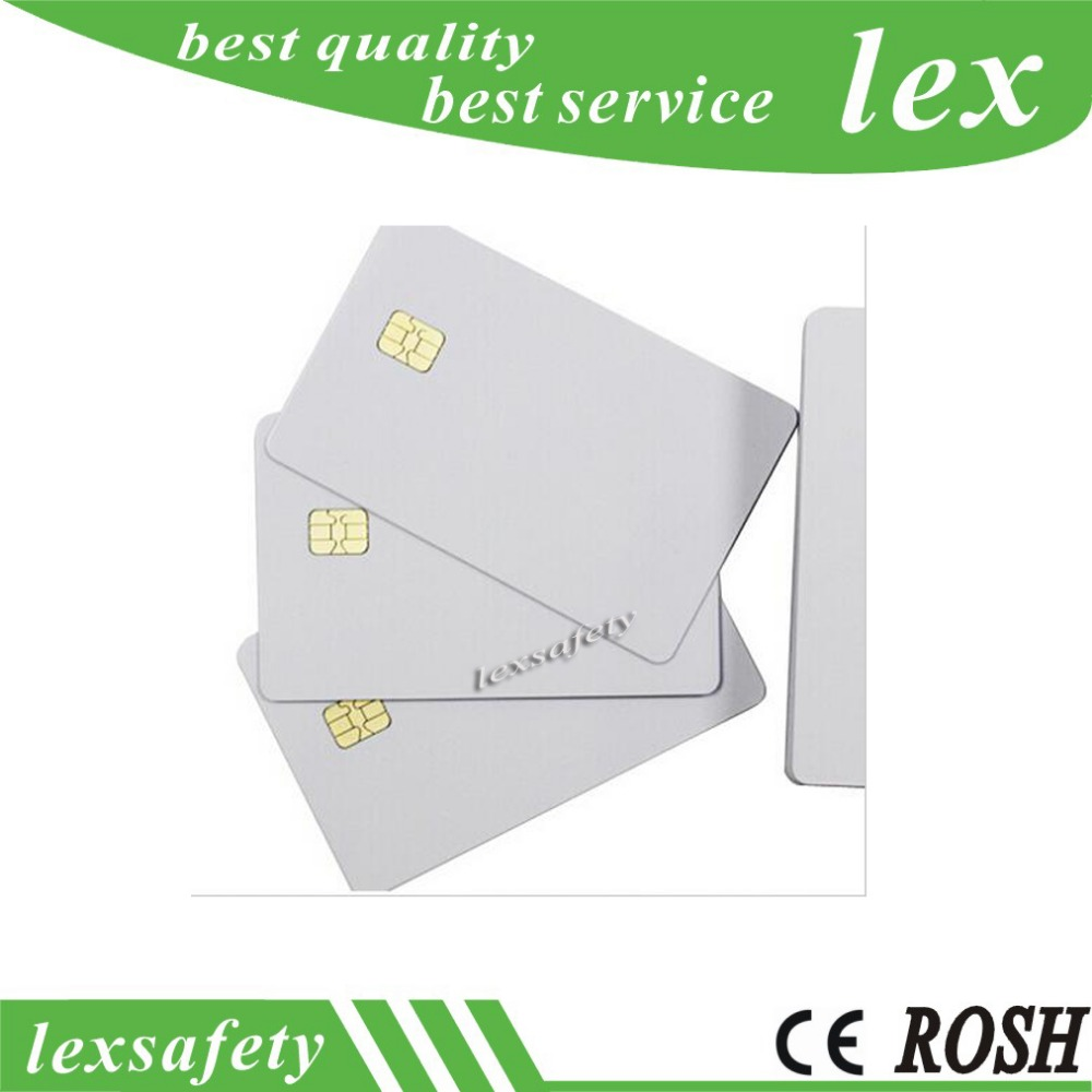 100pcs lot Factory Price ISO7816 Printable FM 4442 contact blank card compatible SLE5542 Chip PVC
