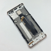 Rose Gold Touch Screen Digitizer Sensor Glass LCD Display Screen Panel Assembly Frame For Sony Xperia