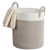 Kids Toy Practical Durable Cleaning Large Capacity Woven Rope Cotton Home Organizer Towel Bathroom Gift Storage Basket Laundry