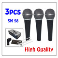 3pcs wholesale High quality SM 58LC Free shipping vocal Karaoke microfone dynamic wired handheld microphone SM 58
