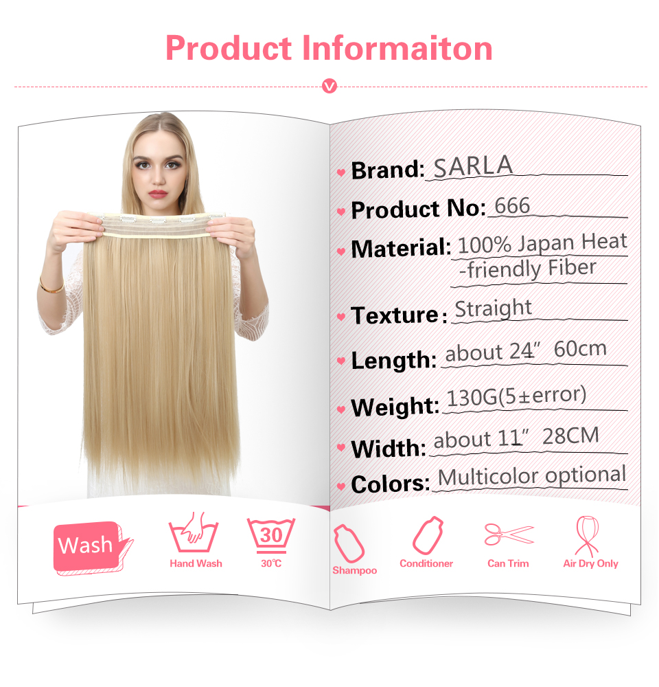 Women's 24in Straight Hair Extensions 7