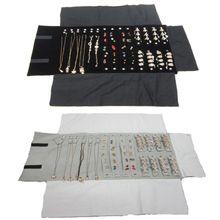 متعددة الوظائف أقراط قلادة حلقة تخزين لفة حقيبة مجوهرات السفر المحمولة الاحتفاظ بكرة أكياس حزمة المعرض