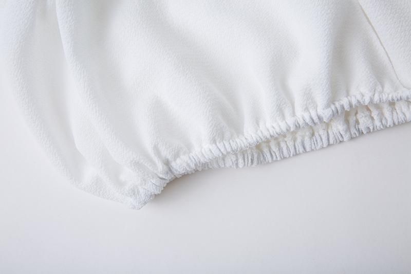 HTB1C7d3dQUmBKNjSZFOq6yb2XXan - Backless Short sleeve white camisole shirt women Off shoulder tank top Ruching ruffle lace up tops JKP399