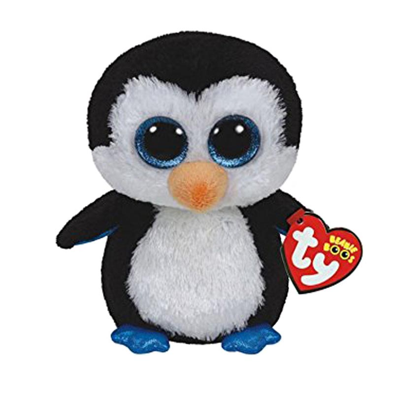 Ty Beanie Boos Big Eyes Plush font b Toy b font Doll Black Penguin With Tag