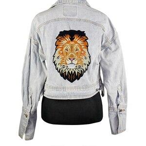 Image 5 - 10 חתיכות האריה רקמת ברזל על חזרה תיקוני רקום Applique תיקון תוויות מדבקת בגדי תפירת אביזרי TH1256