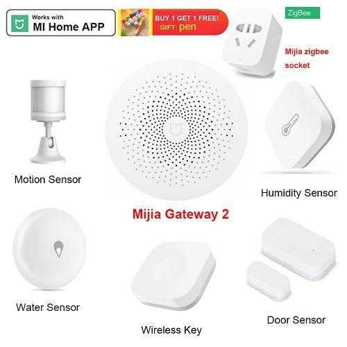 Xiaomi Gateway Aqara Hub Door Sensor Motion Sensor Wall Wireless Switch Mijia Smart Camera Temperature Humidity Sensor Home Kits