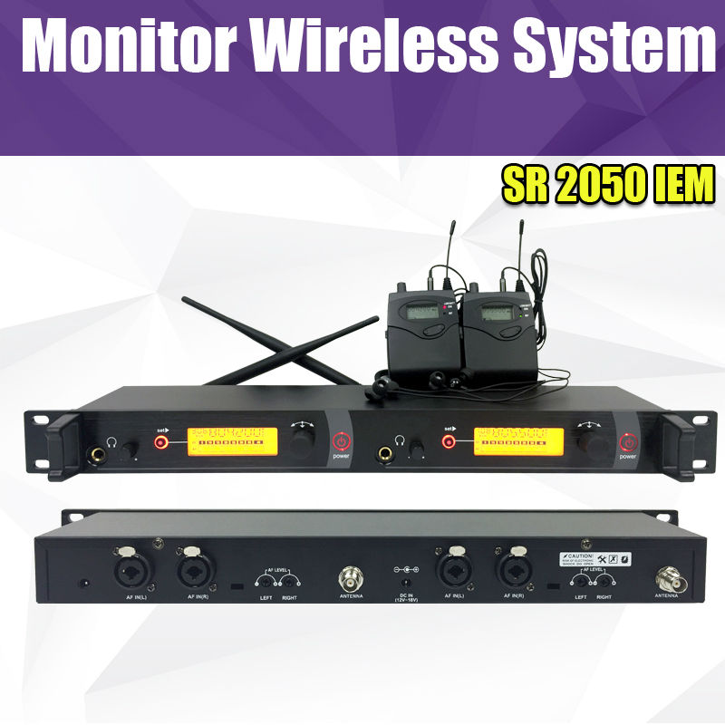 <font><b>In</b></font> Ohr <font><b>Monitor</b></font> Wireless System, Twin sender Überwachung Professionelle für Bühnen-performance <font><b>SR2050</b></font> IEM image