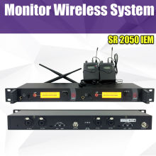 цена на In Ear Monitor Wireless System, Twin transmitter Monitoring Professional for Stage Performance SR2050 IEM