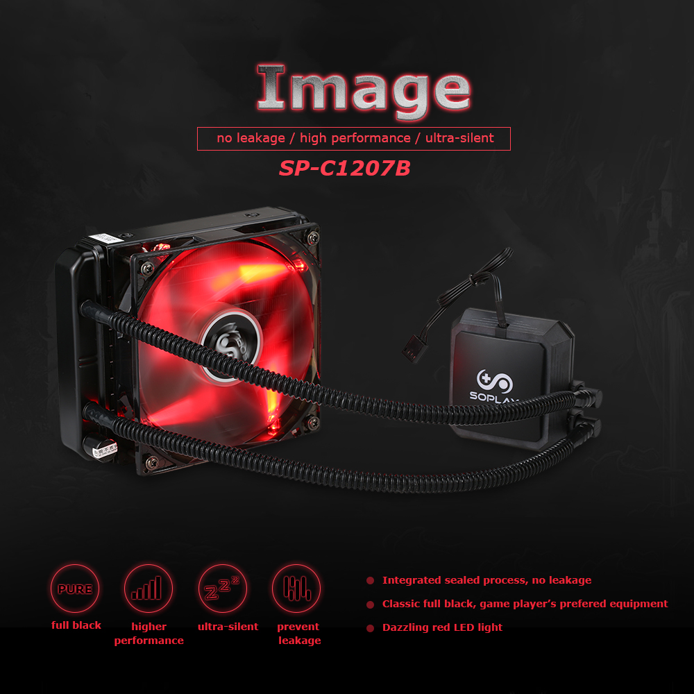 SOPLAY CPU Cooler Liquid Freezer Water Liquid Cooling System Hydraulic Bearing 120mm Adjustable PWM Fans Aluminum fan radiator compute fan cpu cooling fan blueled light freezer water liquid cooling system cpu cooler fluid dynamic bearing for computer