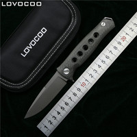 Bear Claw Dr Death Mayo Bearing Folding Knife D2 Titanium Carbon Fiber Handle Camping Hunting Survival