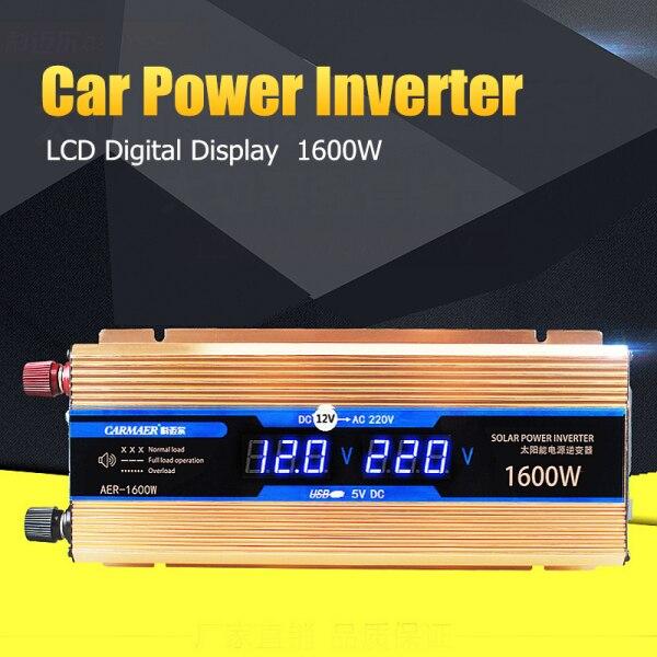 Car Power Inverter 1600 W DC 12 V a AC 220 V LCD Digital Auto Adaptador convertidor sinusoidal modificada cargador transformador de tensión