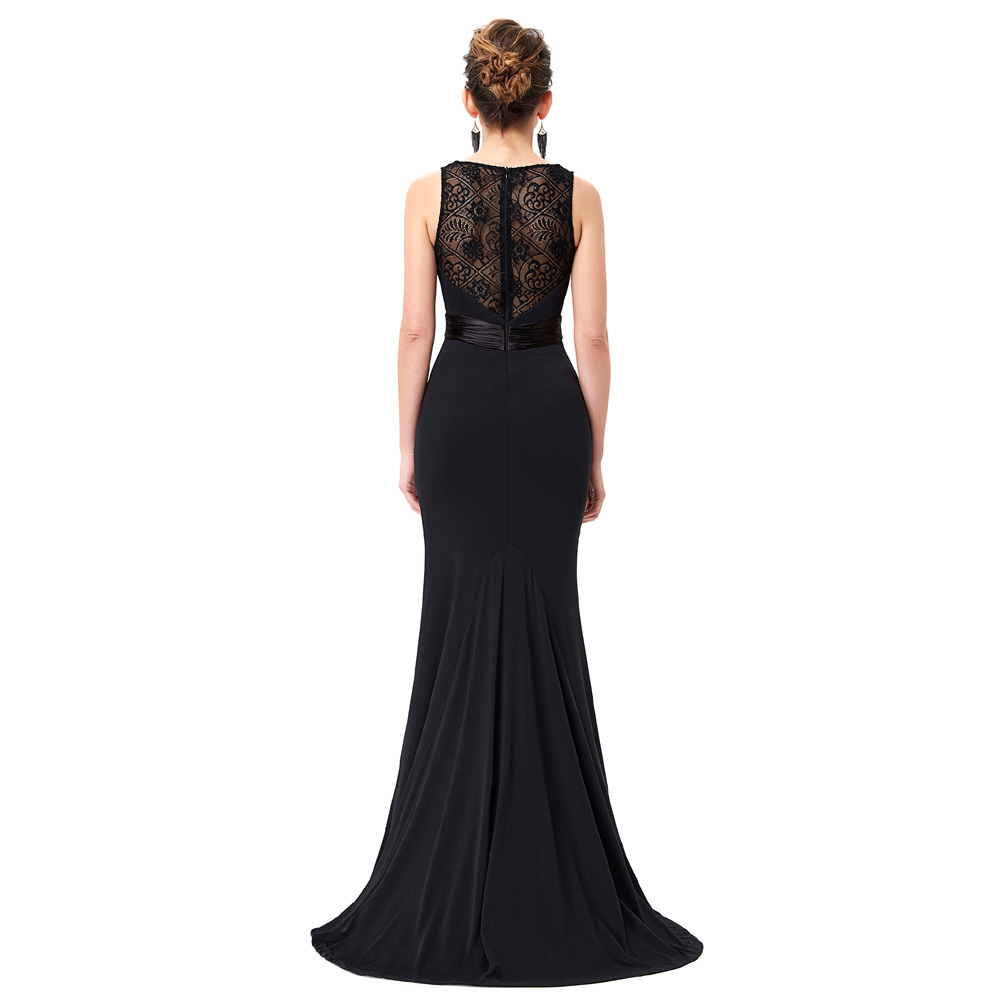 ecb83e0a86 Kate Kasin Jersey Black Evening Dresses Long Bride Mother Dress Ladies  Abendkleider 2017 Mermaid Evening Gowns Abito da Sera -in Evening Dresses  from ...