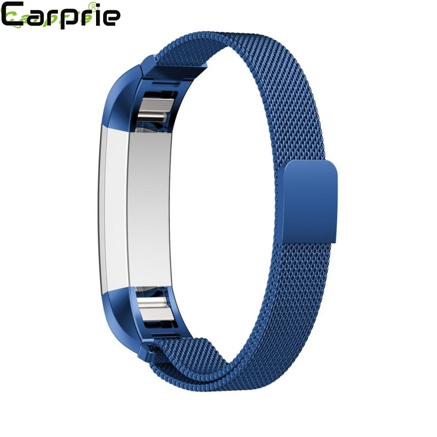 Best price ! 140-215mm Magnetic Loop Stainless Steel Smart Watch Band+Protector FilmFor Fitbit Alta HR TOP quality 2apr3