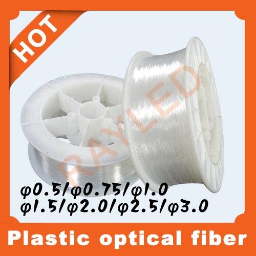 free shipping,0.5,0.75,1.0,1.5,2.0,2.5,3.0mm,mixed batch,5rolls/lot,plastic optic fiber lighting [sa]bamboo fiber optic lines in frs2053 2pcs lot
