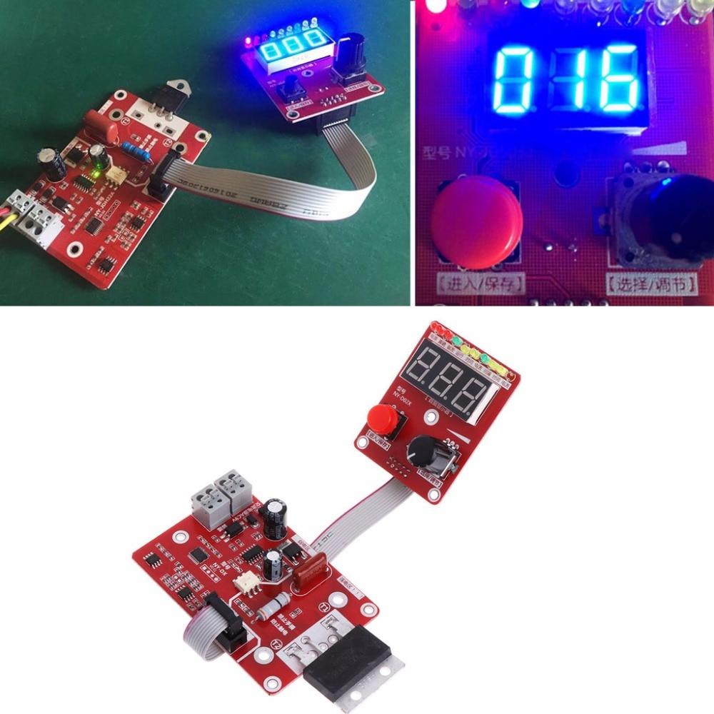 100A Dupla máquina de solda a Ponto de pulso encoder Tempo Dígito Módulo Placa do Painel de Controle Do Controlador de corrente ajustável