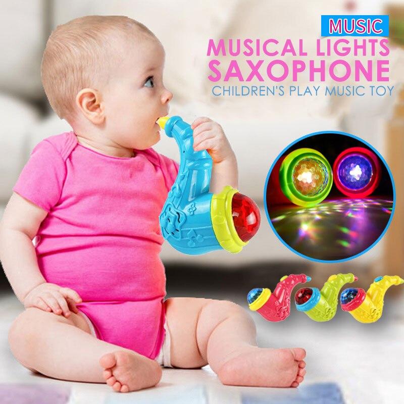 Мягкий мигающий Рог многоцветный развивающий громкоговоритель игрушка для маленького раковины Прямая