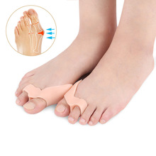 Silicone Insole Orthopedic Shoes Orthotic Insoles Thumb Valgus Protector Foot Finger Toe Separator Gel Inserts Pads For Shoes