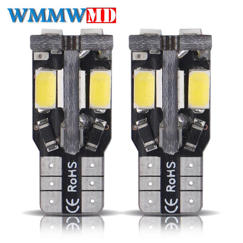 2x T10 W5W 10 Led 5630 5730 SMD Canbus Error Free Auto Clearance Tail Lights CAR Wedge Parking Dome Lamp Bulb Car Side Light 12V