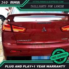 Стайлинга автомобилей чехол для Mitsubishi Lancer задние фонари светодиодные задние лампы ДРЛ + Тормозная + Реверсивный + сигнал автомобильной