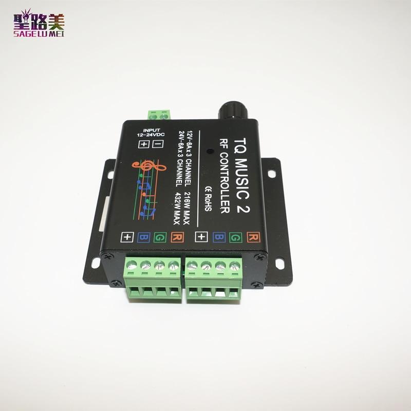 DC12-24V 18A RF Remote RGB led strip Music 2 Controller Խելացի - Լուսավորության պարագաներ - Լուսանկար 5