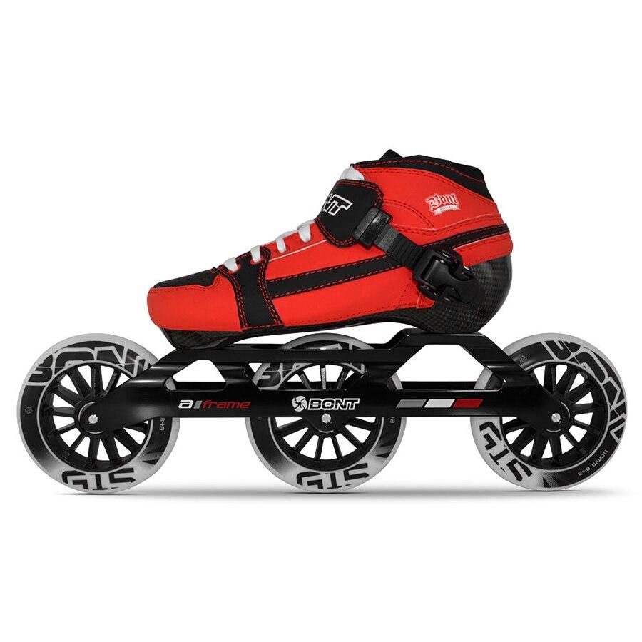 100% Original Bont Verfolgung 2pt 3*100/3*110mm Kinder Geschwindigkeit Inline-skates Heatmoldable Carbon Fiber Größe 29-36 Kinder Patines Kann Wiederholt Umgeformt Werden.