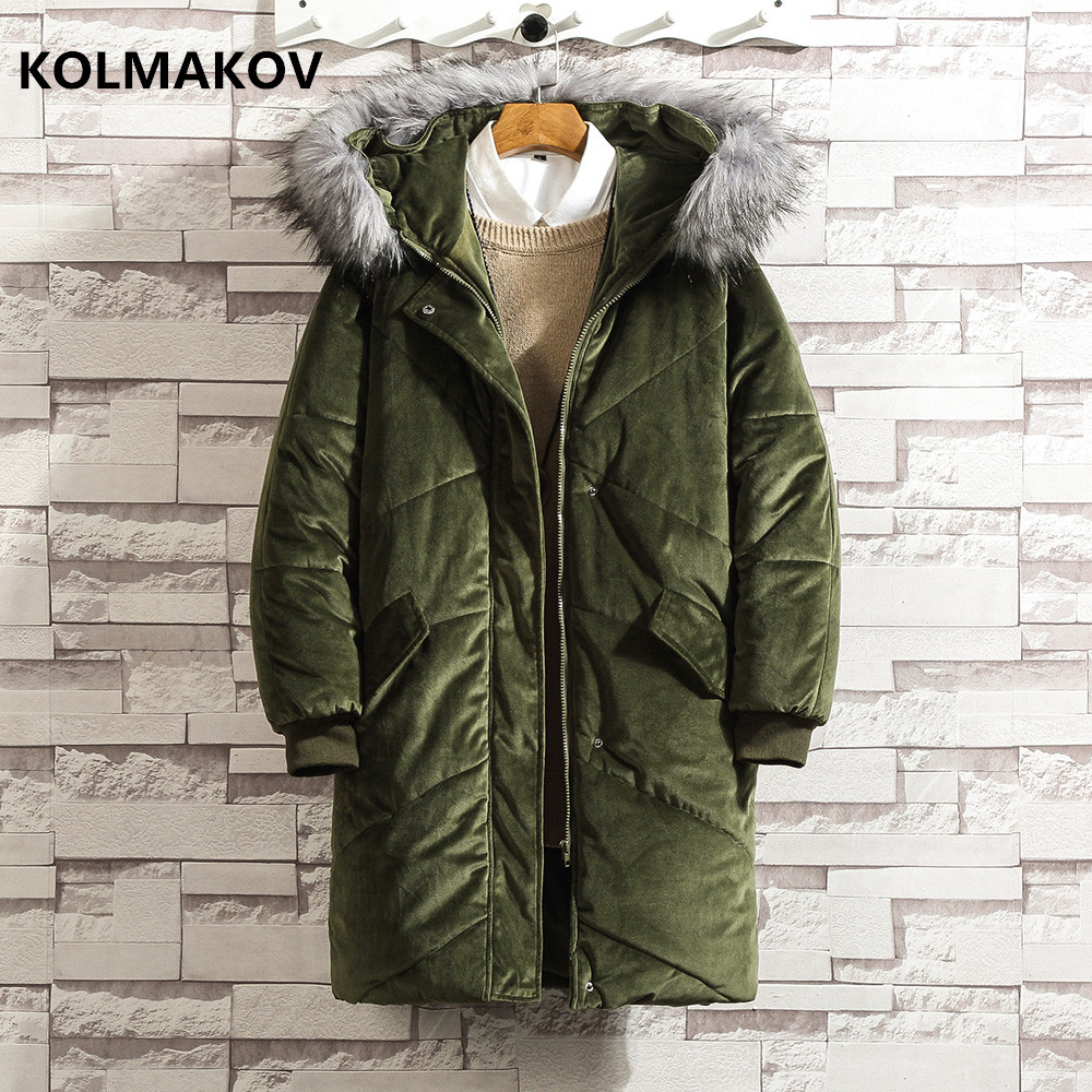 2018 new style Winter Men Keep warm Classic   Down   Jacket Men's fashion casual Jackets Casual Thickening Parkas   coat   men M-4XL 5XL