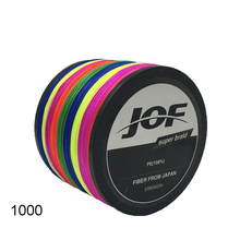 JOF 4 Strands 1000m Colorful PE Big Horsepower Braided Fishing Line 8Weaves Strong Braided Wire Multifilament Fishing Line/Tools