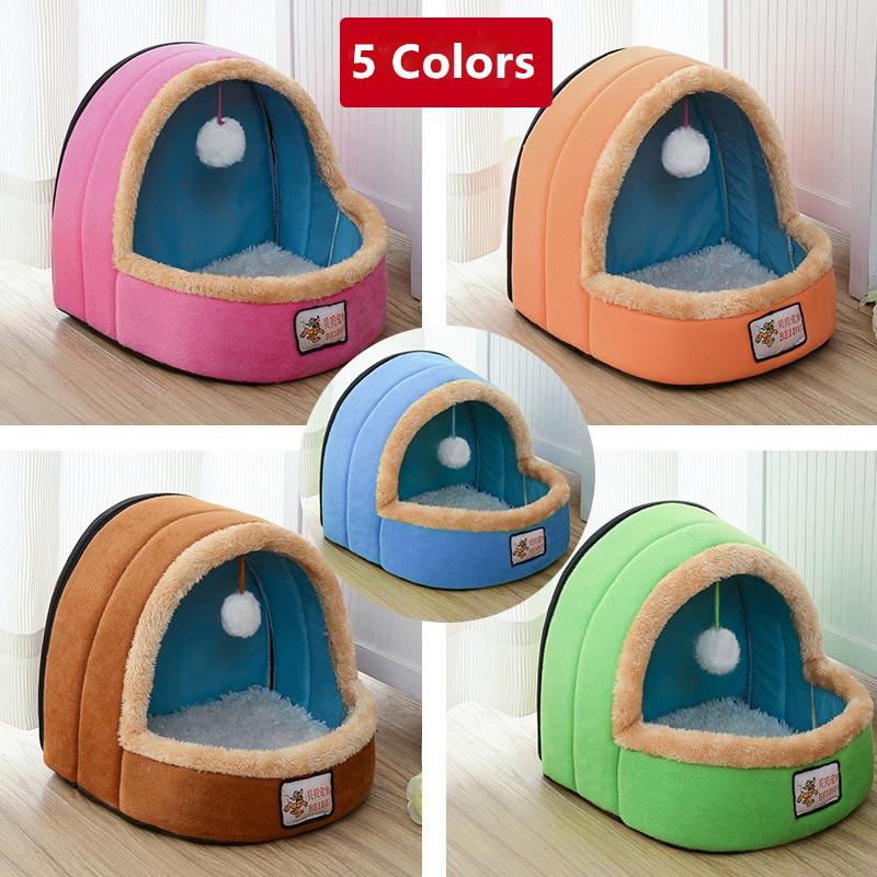 Winter Warm Luxury Dog Beds For Small Medium Soft Dog Pet House Easy To Clean Durable Lovely Cat Bed Pet Puppy Cusion