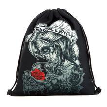 17c7d5c70d29f Sırt çantası Kadın Çantası Bayanlar Cadılar Bayramı Şeker Terör 39 cm * 30  cm Çantası Hediye Paket Cep 3D Baskı Çanta İpli sırt .
