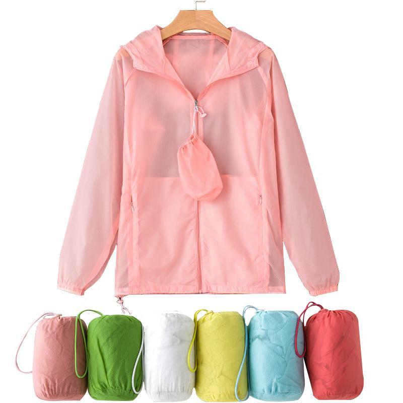 Mujer resistencia uv capa de protección solar del verano clothing ultra delgada