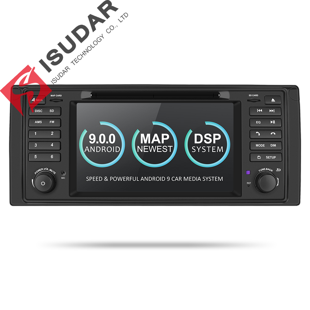 Isudar 9 2 Din Rádio Auto Android Para BMW Série 5/X5 E53 E39 CANBUS Vídeo Multimídia Carro DVD jogador de Navegação GPS DVR USB FM