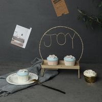 Wrought iron paper cup cake stand LED string cake cake wedding dessert decoration