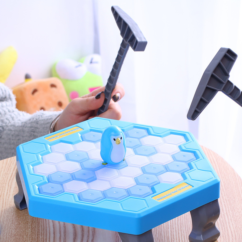 1 Set Small Save Penguin Trap Ice Breaker Game Block Toy Funny Children Kids Gift AN88