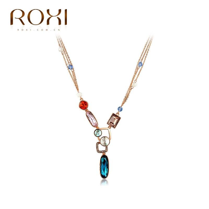 L'europe et les États-unis commerce extérieur bijoux rose collier en or vente chaude haut de gamme collier femmes en gros alliage