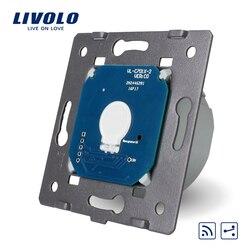 Livolo padrão da ue, 1 gang 2 way, toque interruptor remoto sem painel de vidro, ac 220 ~ 250 v + indicador led, VL-C701SR