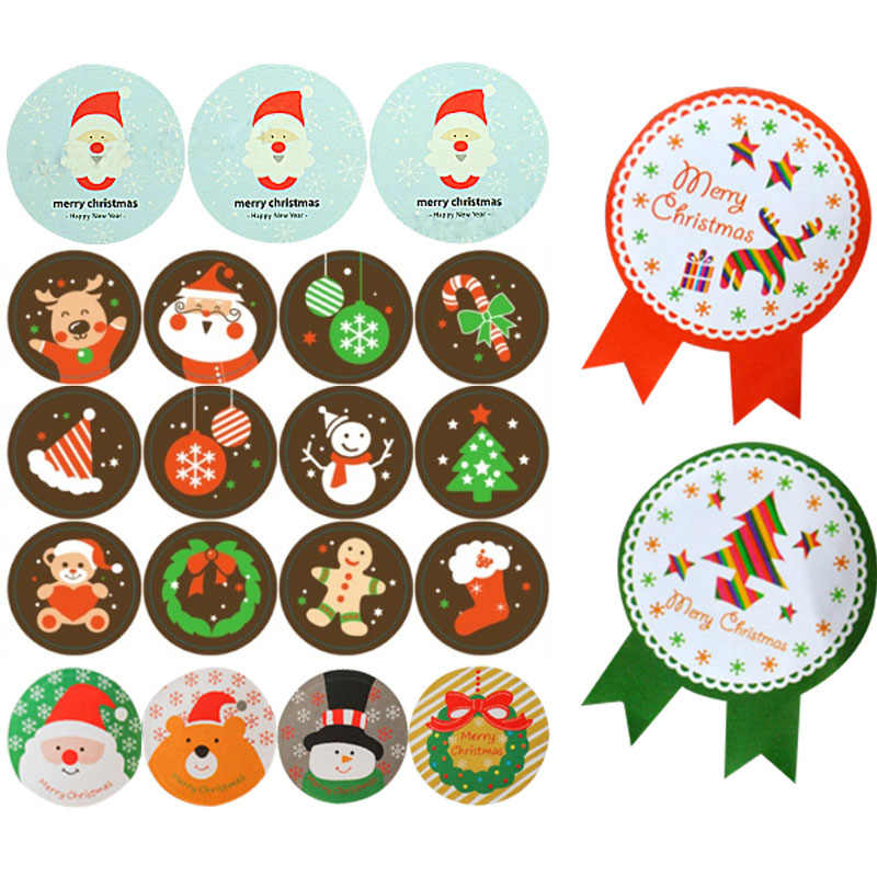 5 Sheets Santa Deer Seal Paper Stickers Decorative DIY Sealing Sticker For Christmas Wedding Candy Cookie Package Adhesive Label