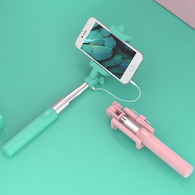 FLOVEME Przewodowa Podręczny Selfie Sticks Dla iPhone 6 6 S Plus 5S Uniwersalny Telefon Monopod Dla Samsung Huawei Xiaomi Redmi Selfiestick
