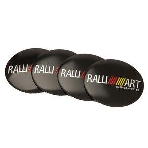 Image 3 - 56.5mm ralliart alumínio roda centro hub tampa emblema adesivo para mitsubishi asx lancer pajero outlander l200 evo eclipse galant