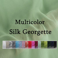 100% Silk Georgette Fabric Silk Fabric for Clothing Dress Wedding Lining DIY Solid Dyed Width 140CM Weight 6mm