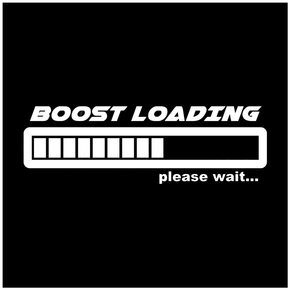 BOOST Loading reflective material decal funny gas stickers car window graphic turbo white