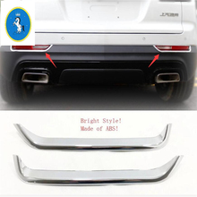 Yimaautotrims Auto Accessory Rear Fog Lights Lamp Eyelid Eyebrow Cover Trim 2 Pcs ABS Fit For Cadillac XT4 2019 2020