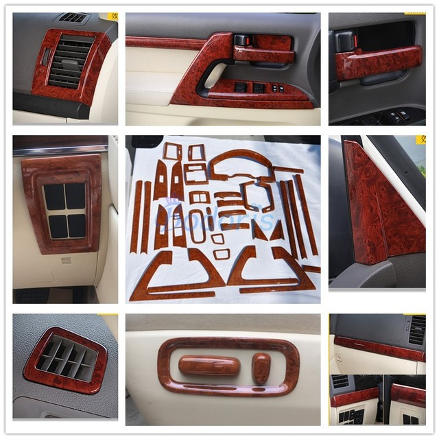 For Toyota LC 200 Land Cruiser 200 2008-2018 Interior Wooden Color Door Handle Cover Holder Trims Panel Car Styling Accessories
