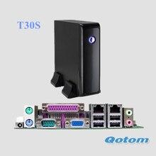 QOTOM Celeron 1037U мини-ПК с последовательным параллельно Порты и разъёмы, VGA, USB, 1 или 2 LAN, X86 мини-ПК с LPT Порты и разъёмы