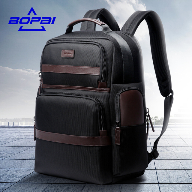 BOPAI Anti thief USB charging 15.6inch laptop backpack for women ...