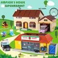 DHL 16005 de Los Simpsons 16004 el Kwik-E-Mart de bloques de construcción ladrillos Compatible legoinglys 71016, 71006 niños regalos
